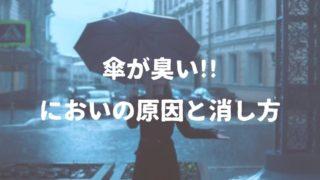 傘が臭い原因は雑菌の繁殖だった!臭いを消す有効な方法とは?